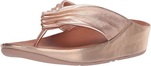 FitFlop Women's Twiss Flip-Flop Rose Gold US05 M US
