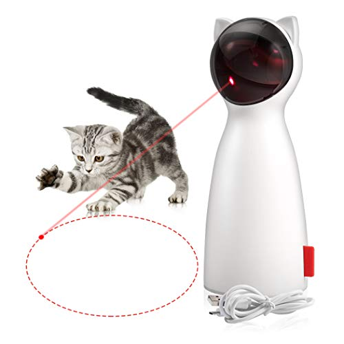 ZOTO Cat Laser Toy, Automatic Rotating Laser Pointer for Cats,...