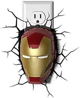 Dream Master 110V Marvel Avengers Ironman Mask 3D Deco Night Light-1 Pack