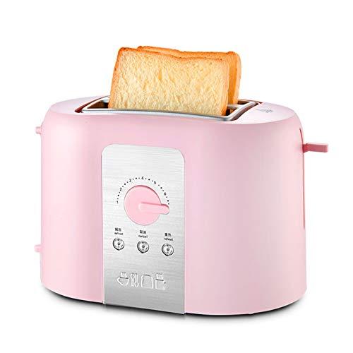 WANGYIYI Inicio Uso Toasters 2 rebanadas Slots Automatic Toaster Pan Brealk Maker Multifuncional 730W 5-Velocidad Calefacción Sandwich Maker