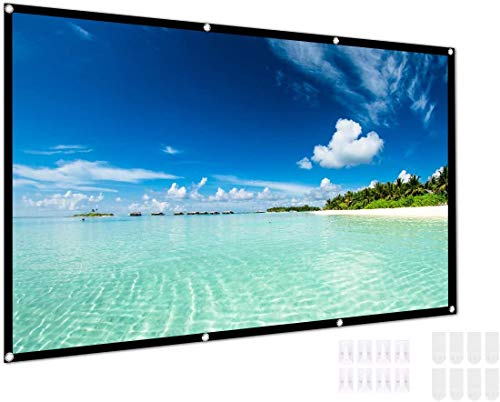 HD Projector Screen 16:9 Home Cinema Theater Projection Foldable Portable Screen 72/84/120/150 inch (120 inch)