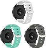 Gransho compatibile con Xiaomi Haylou RT LS05S / Mi Watch Sport/Mi Watch Color Cinturino per Orologio in Gomma Siliconica (3-Pack J)
