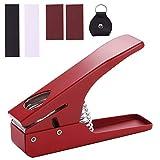 Nolloi DIY Guitar Pick Maker Guitar Pick Punch Maker Plectro Punch Kit con una cartera de púas 2 piezas de papel de lija fino y dos púas completas para cortar rojo