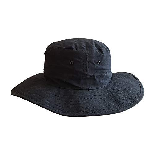 Bushfire Bushman Oilskin Hut schwarz - 013001010000L