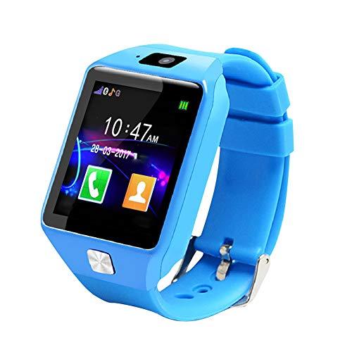 Lairun Smartwatch con Chiamata telefonica Bluetooth, Smartwatch per Telefono per Bambini, Smartwatch per Bambini con Sistema Android iOS Leggero con Fotocamera per Studenti Bambini(Blue)