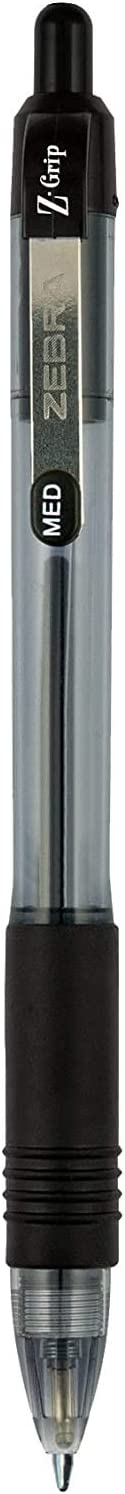 22215 - 1 Medium Point Z-Grip Retractable Ballpoint Pen 5 Pieces Black Ink 1.0mm