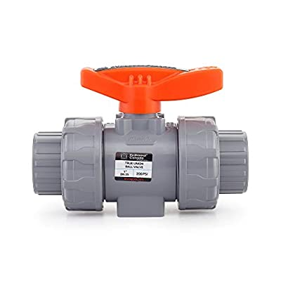 """HYDROSEAL Kaplan 1"""" CPVC True Union Ball Valve Socket with Full Port, ASTM F1970, EPDM O-Rings and Reversible PTFE Seats (1'') by HYDROSEAL"""