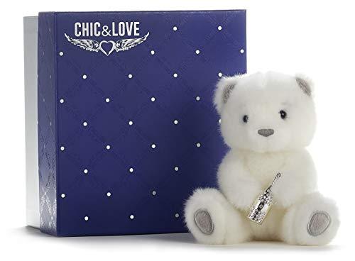 Posh Paws- Chic & Love - Colgante de Botella de Cristal Swarovski (tamaño Mediano, en Caja de Regalo) (37439)