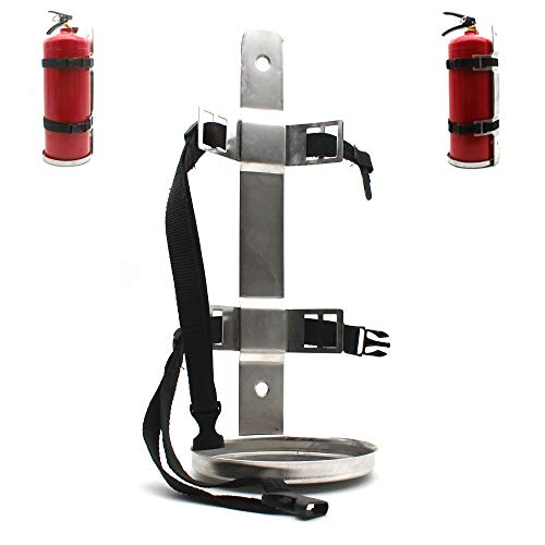 Fire Extinguisher Metal Bracket, Heavy Duty,304 Stainless Steel, Compatible with 5-Pound Fire Extinguishers