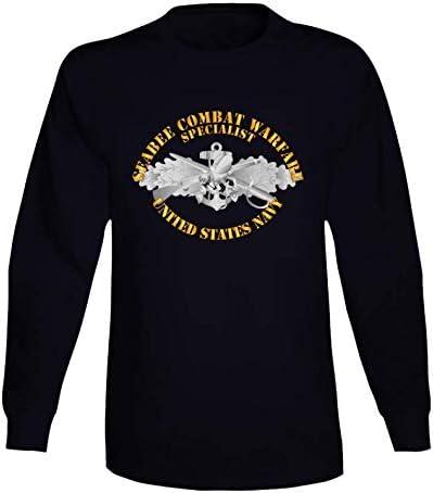 3XLARGE Arlington Mall - Navy Seabee Combat Warfare Txt w Lon Spec Badge Large discharge sale EM