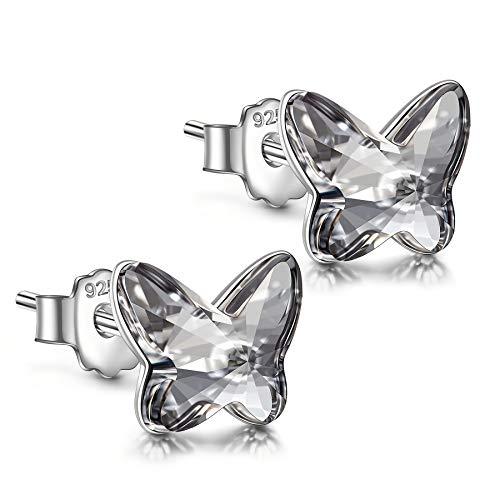 ANGEL NINA Pendientes de plata Pendientes para niñas Pendientes de plata para mujeres Pendientes de...