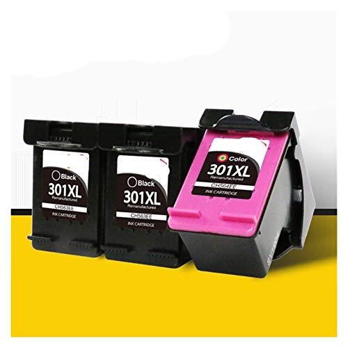 WTBH Cartucho de Tinta 2 Piezas y 1 Set se Puede reemplazar para HP301 HP 301 XL Deskjet DeskJet 2050S 2510 2540 3050A 3054 1000 1050 1510 2000 2050 Impresora Reemplace el Cartucho de Tinta