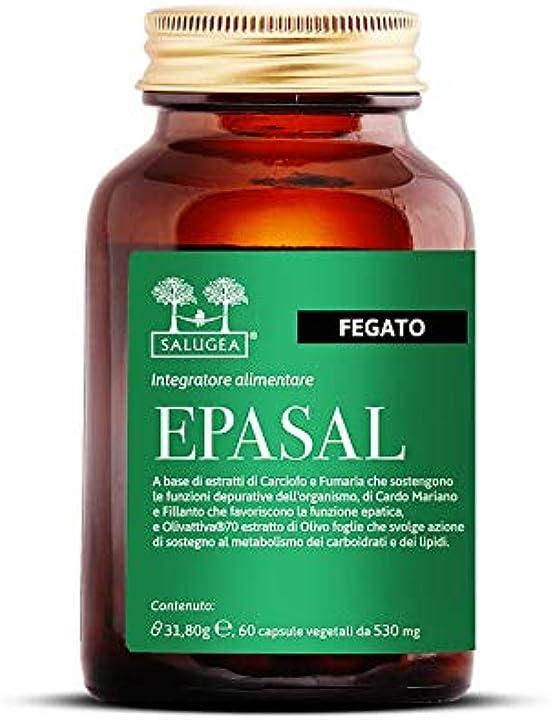 Integratore per la depurazione del fegato - depurativo 100% naturale - 60 capsule salugea epasal B07XYLZ71G