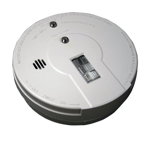 Kidde - 21026052 Battery Operated Smoke Detector Alarm with Safety Light   Model i9080,White