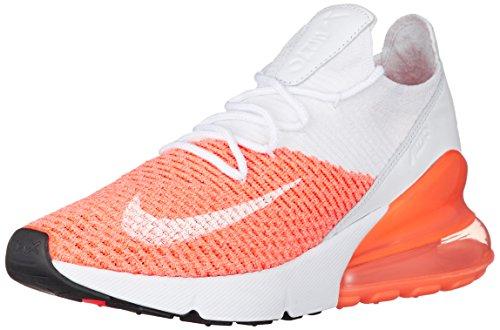 Nike Damen Air Max 270 Flyknit Running Trainers AH6803 Sneakers Schuhe (UK 5 US 7.5 EU 38.5, Crimson Pulse White 800)