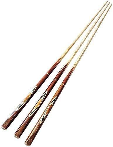 3 Pack, 57 Zoll Ash Pool Snooker Cues, 1/2 Gemeinsame Handmade 10 mm Geschraubt Tipps 8bayfa