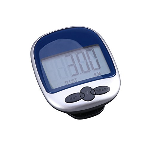 Pixnor Digital LCD Pedometer Pocket Counter zu Fuß (Blau)