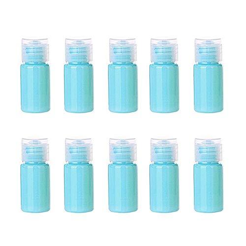 xaihe10 botellas de spray de 16 ml de plástico transparente de colores de caramelo de niebla, botellas atomizadoras de viaje, recipientes de líquido recargables para maquillaje cosmético