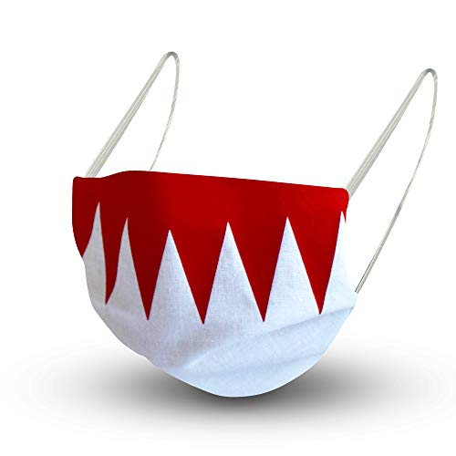 Fan-Omenal Textil Design Maske in Rot-Weiß aus Baumwolle mit zertifiziertem Innenvlies - FRANKEN - 15626/1