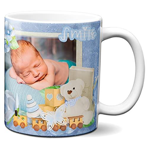 Niestandardowy kubek z 3 zdjęciami – wykonany na zamówienie – spersonalizowany kubek – spersonalizowany kubek do kawy – motyw dziecięcy – 325 ml ceramiczny kubek do herbaty