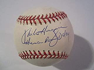 Mike Hargrove Cleveland Indians Autographed Signature 1994 ROfficial Major League Baseball Human Rain Delay Inscr JSA COA - Authentic MLB Autograph