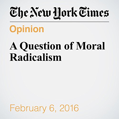A Question of Moral Radicalism audiobook cover art