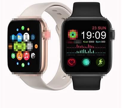 FT50 Reloj inteligente Mujeres Hombres Smartwatch fitness tracker deportes Frecuencia cardíaca Monitor de temperatura para Android IOS IWO8 pulsera (Blanco)