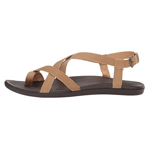 OLUKAI Womens Upena Gladiator Sandal, Golden Sand, 10 B(M) US
