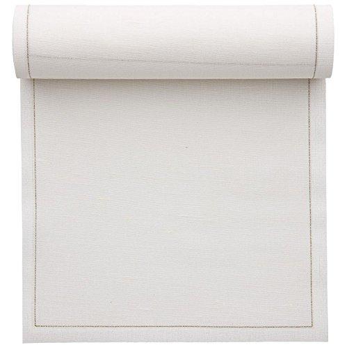 Mydrap - Rotolo di tovaglioli da Cocktail e sottobicchieri in Tessuto/Lino, Tessuto, Ecru, 11 x 11 cm