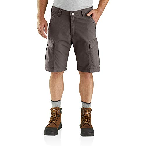 Carhartt Men's Force Relaxed Fit Ripstop Cargo Work Short, Tarmac, W42