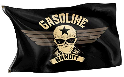 Gasoline Bandit® Biker Racer Flagge für das Clubheim oder die Schrauber-Werkstatt