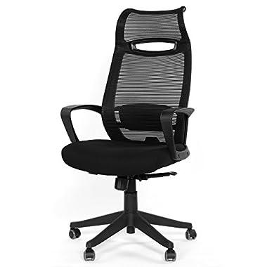 GreenForest Ergonomic Office Chair High Back Headrest Swivel Mesh Computer Task Chair,Black