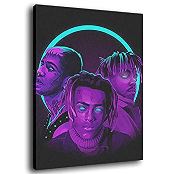 zimusie Wall Posterjuice Wrld and Xxxtentacion Poster Canvas Art Poster and Wall Art Picture Print Modern Family Bedroom Decor Posters 12x18inch 30x45cm