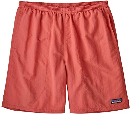 Patagonia M's Baggies Longs-7 inch Pantaloncini da Uomo, Spiced Coral, XL
