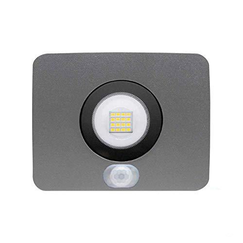Proyector LED 10W Ultraslim de Exterior IP65 con Sensor Crepuscular y Movimiento...