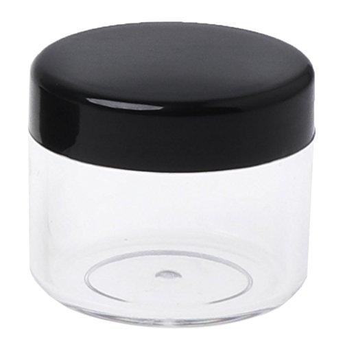 SimpleLife 20g Leere kosmetische Plastikgläser/Makeup-Glas Mini-Probenflasche für Kosmetik/Pulver/Mineral Make-up/Rouge/Foundation Travel Nützlich, 38x33mm
