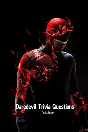 Daredevil Trivia Questions Notebook: Notebook|Journal| Diary/ Lined - Size 6x9 Inches 100 Pages