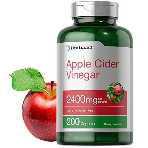 Apple Cider Vinegar Capsules   2400mg   200 Pills   Non-GMO, Gluten Free Supplement   by Horbaach