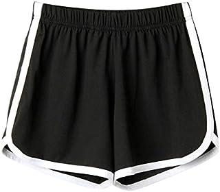 TS#501 Women Lady Summer Sport Shorts Beach Short Pants Yoga : Black, L