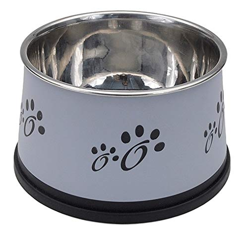 MPP Dog Bowls Stainless Steel Non-Tip Keep Dry Long Ear Breed Food Water Dishes 30oz
