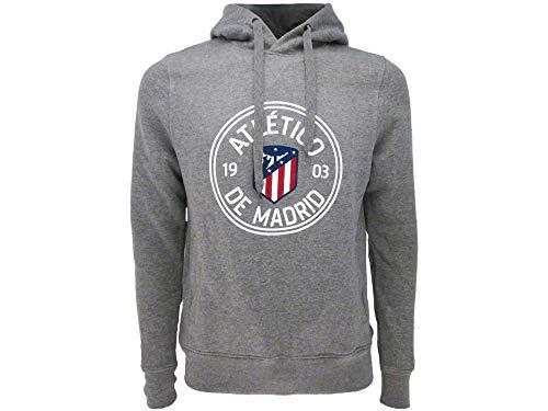Atletico Madrid Sudadera con capucha oficial – Gris, gris, S