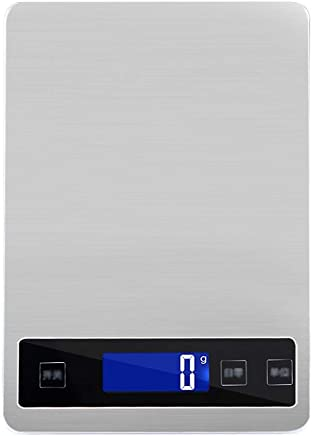 Kitchen Scales - Stainless Steel, Smart Touch Screen, 5 Units, Household Scales Waterproof Food Small Complementary Food Weighing Scales-2 Colors 3 ranges Optional (Color : Gray, Size : 10kg)