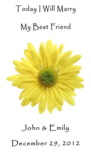 Personalized Wedding Favor Wildflower Seed Packets Yellow Daisy Design 6 verses to choose from Set of 100