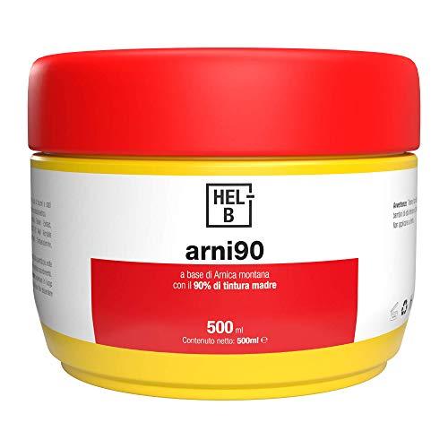 ARNI90   Gel Arnica potente con concentrazione del 90% di tintura madre per aiutare a ridurre i dolori, infiammazioni, contratture e traumi e gonfiori a carico del sistema muscolo schelettrico HEL-B