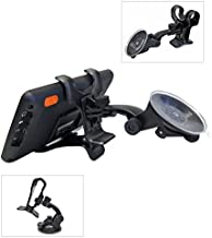 Ramtech Universal 360° Rotating Car Windshield Suction Mount Dual Clip Holder Bracket Stand For Rand McNally Road Explorer 5 50 60 7 GPS - WMDC