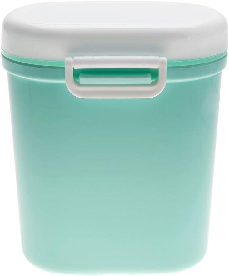 Antilog Dispenser, Portable Baby Milk Powder Dispenser Baby Food Fruit Candy Storage Container(Green L)