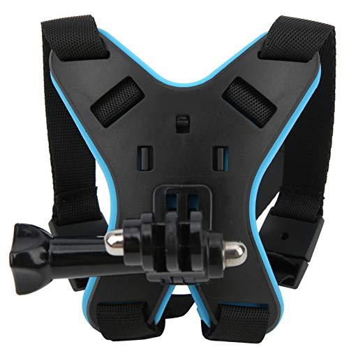 Soporte de mentón para Casco, Kits de Montaje de mentón para Casco de Motocicleta, Soporte de mentón para cámara de acción de Cara Completa para GoPro Hero 9/dji OSMO(Azul) ⭐