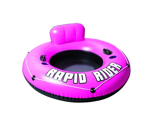 Bestway CoolerZ Rapid Rider Inflatable Tube w/ Backrest | Inflatable Pool Float Includes 2 Cupholders and Heavy-Duty Handles | Great for Adults and Kids