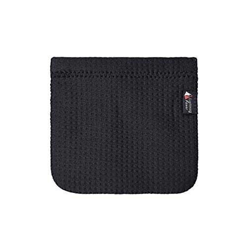 """TXEsign 4"""" x 4"""" inch Neoprene Protective Carrying Snap Case Bag Pouch Compatible with Varias Earpods Earphone Headsets/Cables (4"""" x 4"""" Case)"""