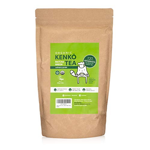 Matcha Green Tea Powder - Organic Culinary Grade Matcha Powder - 250g Bulk Size [8.8oz], Antioxidants, Energy - Product of Japan